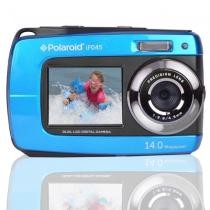 "Polaroid Waterproof Camera IF045-BLU 14MP 5x Digital Zoom w/ 1.8"" Front & 2.7"" Rear Displays Now $29.99"