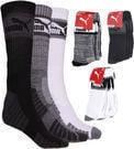 Puma Men's 3-Pack 1/2 Terry Crew Socks