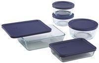 Pyrex 10-Piece Glass Storage Set w/ Lids