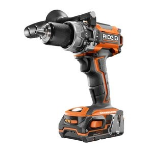 RIDGID 18-Volt Lithium-Ion Cordless Brushless 1/2 in. Compact Hammer Drill w/ (2) 1.5 Ah Batteries and 18-Volt Charger