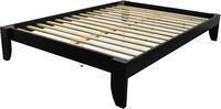 Scandinavia Queen-size Solid Bamboo Platform Bed - Black