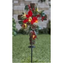 Solar Lighted Christmas Cross Stake Now $16.98