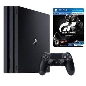 Sony Playstation 4 Pro 1TB and Gran Turismo Sport Limited Edition Steelbook Bundle