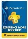 Sony PlayStation Plus 1 Year Membership Card