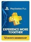 Sony PlayStation Plus 1-Yr. Subscription Card