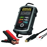 Stanley Fatmax BC8S Fully Automatic 8A 12V Battery Charger/Maintainer w/ Cable Clamps $24.30