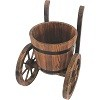 Stonegate Designs Wooden Barrel Planter