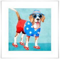 Summer Beagle Wall Art Now $19