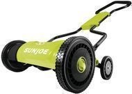 "Sun Joe 18"" 5-Position Manual Walk-Behind Push Reel Mower"