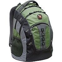 SwissGear Granite Deluxe Laptop Backpack (Green/Black)