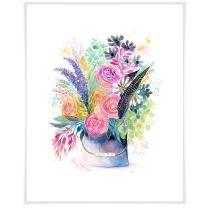 Tin Pail Bouquet Wall Art Now $19