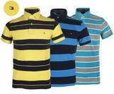 Tommy Hilfiger Men's Striped S/S Mesh Polo (3 Colors)
