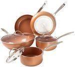 Trademark 8-Pc. 2-Layer Nonstick Copper Cookware Set w/ Lids