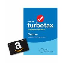 TurboTax Deluxe 2018 Tax Software PC Download Now $29.99 + Free $10 Amazon Gift Card