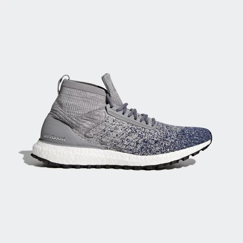 Ultraboost All Terrain Shoes - GREY / GREY / NOBLE INDIGO $107