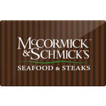 Up to 13.7% off McCormick & Schmick's Gift Cards from Raise.com