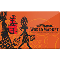 Up to 0.1% off World Market Gift Cards from Raise.com