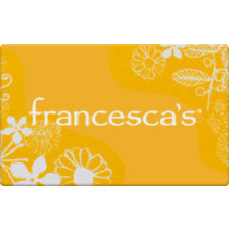 Up to 20.1% off Francesca's Gift Cards from Raise.com