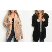 Up to 44% off Women's One Size Sherpa Hoodie Cardigan