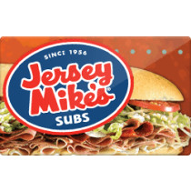 Up to 3% off Jersey Mike's Subs Gift Cards from Raise.com