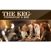 Up to 8% off The Keg Steakhouse & Bar Gift Cards from Raise.com