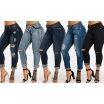 Up to 74% off Ripped One-Button Mid-Rise Skinny Ankle Jeans