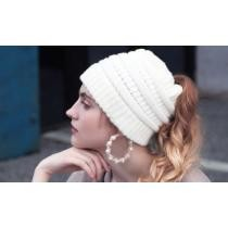 Up to 75% off Women's Soft Knit Ponytail Hat