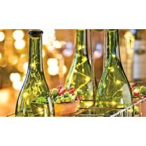 Up to 77% off LED Cork Wine Bottle Lights - 3 Pack, White or Multi