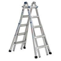 Werner MTIAA Aluminum 22-ft Reach 375 lbs Capacity Telescoping Ladder $119