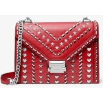Whitney Large Studded Leather Convertible Shoulder Bag Now $428