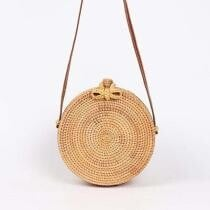 Woven Round Boho Crossbody Purse Now $48