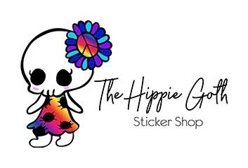 Hippie Goth Stickers