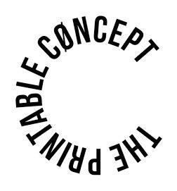 The Printable Concept