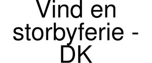Exclusive Coupon Codes at Official Website of Vind En Storbyferie